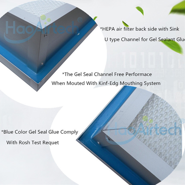 Back Side Gel Seal HEPA Filter