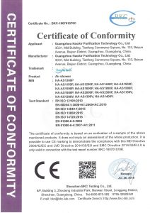CE Certificate of Clearn Room Air Shower