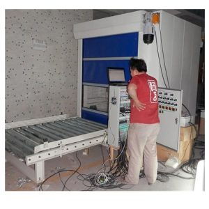 PLC Control Air Shower Tunnel With Conveyor Roller Line