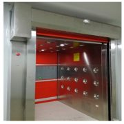 Red PVC Fast-Rolling Door Air Shower Tunnel