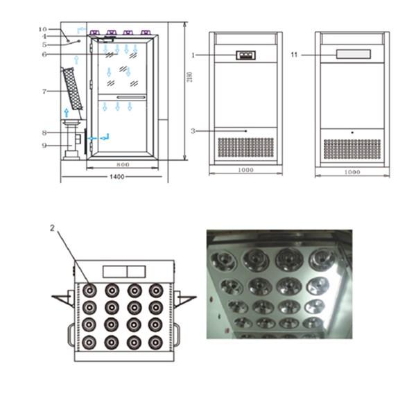 vertical air shower