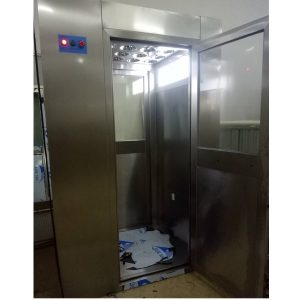 Vertical Blowing Air Shower Tunnel